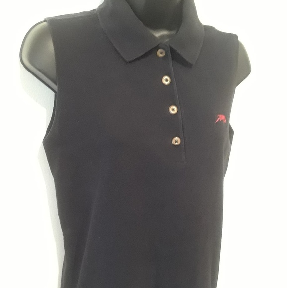 Perlis Dresses & Skirts - Perlis women's sleeveless Polo medium black